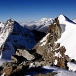 Wunderbarer Ausblick vom Fletschhorn auf die kommende Route