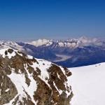 Blick zum Fletschhorn und zum Aletschgletscher