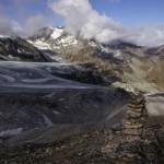 Brunneggletscher im Vordergrund, hinten der abfallende Turtmanngletscher