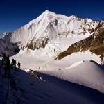noch im Aufstieg auf dem Südwestgrat des Brunegghorns
