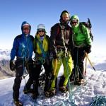 ...und dann haben wir es tatsächlich geschafft: in 5 Stunden auf's Brunegghorn auf 3833m ü.M.