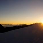 Sonnenaufgang im Aufstieg zum Bishorn