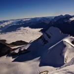 Ausblick auf das zweit Tage zuvor bestiegene Brunegghorn..