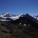 Bergpanorama von der Cabane de Tracuit