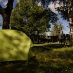 Sonntag ist Waschtag - der Wind lässt die Wäsche in ca. 1h trocknen... Unser zuhause während drei Nächten hier in Klagenfurt