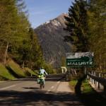 morgendliches Training für die Schweizer Alpen - von Obervellach nach Malnitz steigen wir 600Hm über die ersten 8km..puuuuh!