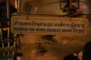 Thailändische Prioritäten der Sitzordnung