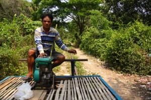 legendäres Bamboo-Train in Battambang