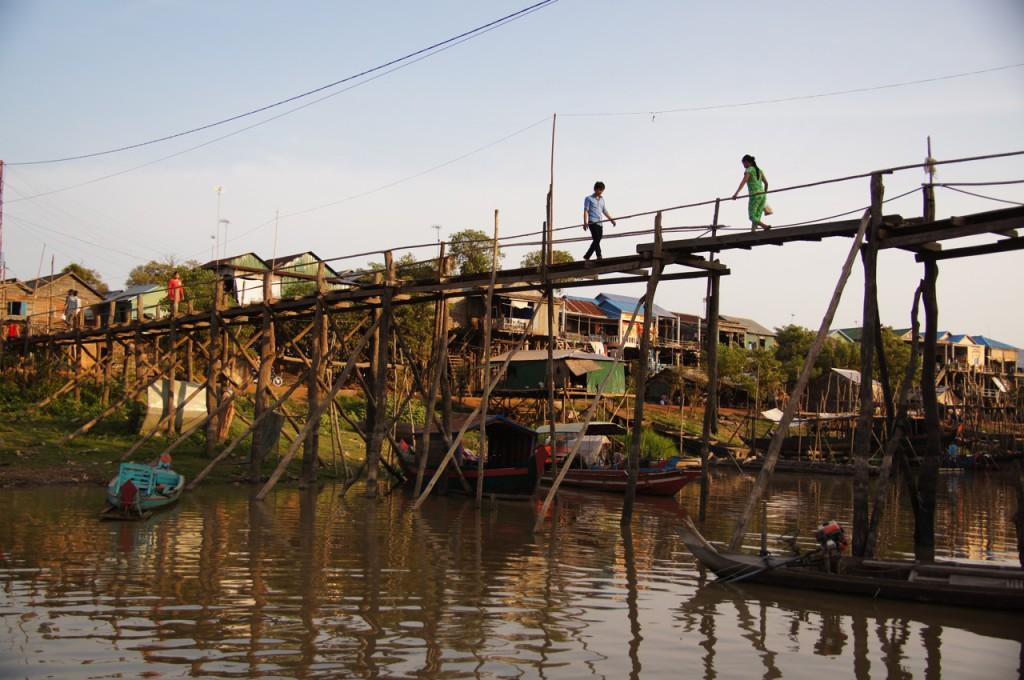 Stelzenbrücke bei Kampong Chhnang