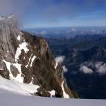 Es ist gegeben durch den Wind eisig kalt auf dem Schwandergrat, auch wenn das Panorama richtig Stimmung verbreitet!