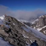 Auf dem Gipfel des Vrenelisgärtli - Sicht Richtung Aufstiegsseite.