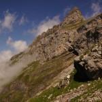Die schöne, von Kalkmassiven geprägte Landschaft..