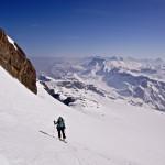 Im Aufstieg auf dem Glacier du Wildhorn