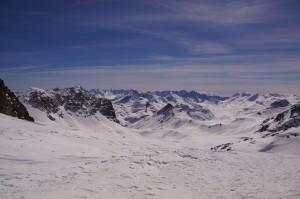 Ausblick von der Fuorcla d'Agnel Richtung Julierpass