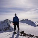 auf dem Gipfel - Piz Traunter Ovaz - eine böeige Angelegenheit!