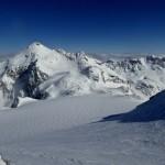 Ausblick vom Tschima da Flix - Vadret (Gletscher) Calderas und Piz Calderas