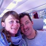 fasziniert in der Albulabahn - keine Zeit zum Ruhen!