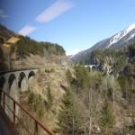 eines der 144 Viadukte der Albulalinie - eine bautechnische Meisterleistung!
