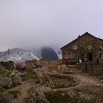 die Tierberglihütte SAC auf 2795 am Steingletscher, Sustenpass