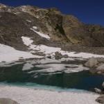 eisige Sache - Älpergensee, ohne Gletscher, aber schwimmendem Schnee