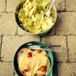 Chässchnitte & Salat - super fein!!