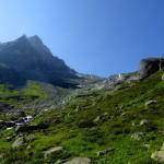 am Göscheneralpsee Richtung Süden zur Lochberglücke abgebogen, noch 4h Marsch bis zur nächsten Hütte