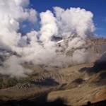 Wunderbare Wolkenstimmung am Südabhang des Grand Combin Massivs