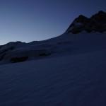 Morgendlicher Ausblick auf das Tschingelhorn von der Mutthornhütte aus