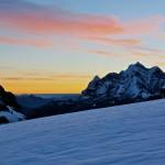 draussen unterwegs, im kühlen Morgenwind und mit einem solchen Ausblick - da vergisst man alles um einem herum!