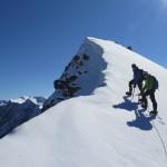 auf dem Firnfeld vor der letzten Felspartie vor dem Gipfel des Breithorns