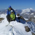 wunderbar - Gipfel erreicht! Lauterbrunner Breithorn 3780m