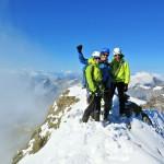 ein harmonisches Bergsteigerteam! Ohne Christoph's kompetente und sichere Führung hätten wir diesen Gipfel nicht geschafft.. DANKE!!