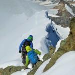 der Gipfel ist erst die Hälfte der Tagesetappe - auf dem Abstieg!