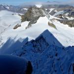 Schattenbild des Breithorns