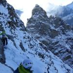 Christoph, unser Bergführer, steigt vor..