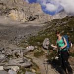 Beim Aufstieg zur Gspaltenhornhütte..