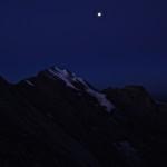 Morgenhorn und Mond
