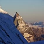 immer wieder drängt sich die markante Silhouette des Matterhorns in unseren Blick