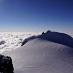 Signalkuppe - Punta Gnifetti mit der höchst gelegenen Alpinhütte Europa's - Rifugio Regina Margherita 4554m