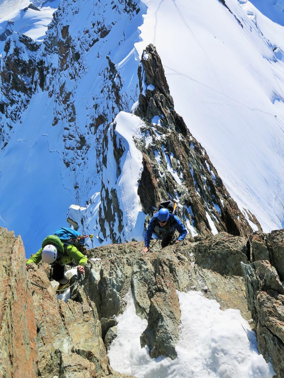 Kletterstelle zum Breithorn-Mittelgipfel 4159m