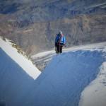 Gianni & Emil auf ihrem Weg zum Castor-Gipfel