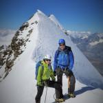 gerade am Liskamm ist der Gipfel erst der halbe Weg...