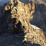 Rückblick vor dem Gipfelaufschwung