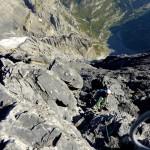 Im Abstieg auf dem Gipfelgrat