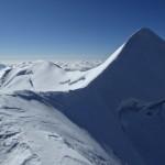 Der schöne Gipfelgrat zum Castor