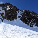Abseilpiste von der Dufourspitze (ist steiler, als es hier aussieht..)