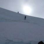 eine letzte Mutprobe - Abseilen über und in eine Gletscherspalte, von welcher man aber gut hinausklettern konnte..