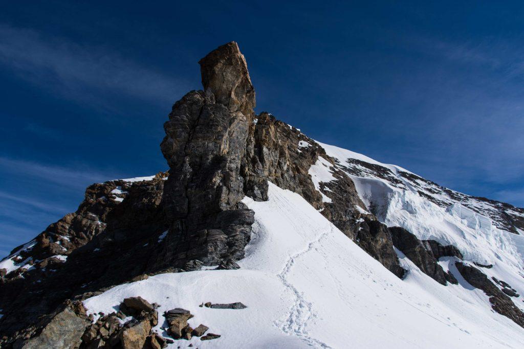 Einstieg in den Südwestgrat vom Mönch
