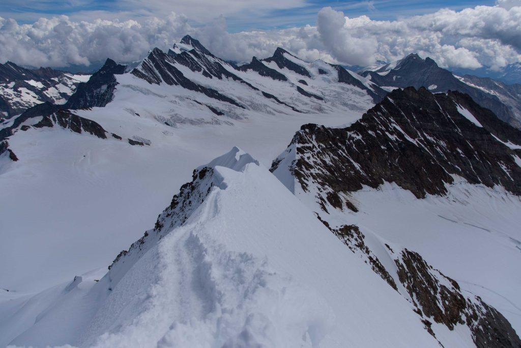 berühmt-berüchtigter Südost-Grat auf dem Abstieg über die Normalroute