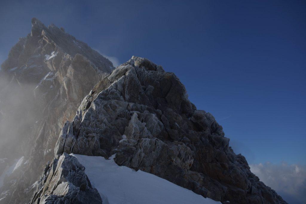 Frost auf dem Grat des Finsteraarhorns -